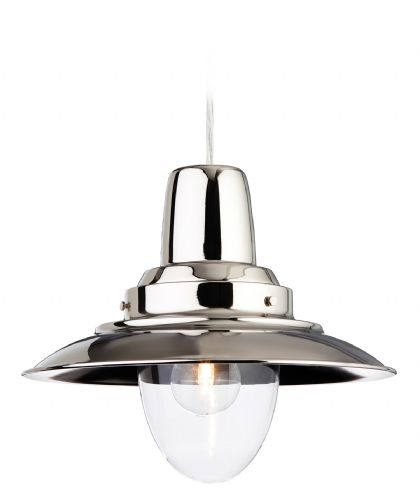 Firstlight 8645CH Chrome with Clear Glass Fisherman Pendant